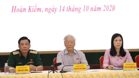 """Tiếp xúc cử tri Hà Nội, Tổng bí thư, Chủ tịch nước Nguyễn Phú Trọng: """"Lãnh đạo phải bản lĩnh, có phương pháp và đặc biệt là phải đoàn kết"""" ảnh 2"""