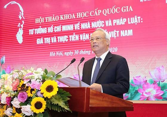 Hội thảo khoa học 'Tư tưởng Hồ Chí Minh về Nhà nước và pháp luật: Giá trị và thực tiễn vận dụng ở Việt Nam' ảnh 2