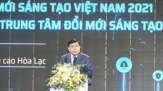 Thủ tướng bấm nút khai trương Triển lãm quốc tế đổi mới sáng tạo Việt Nam 2021 và khởi công Trung tâm Đổi mới sáng tạo Quốc gia ảnh 4