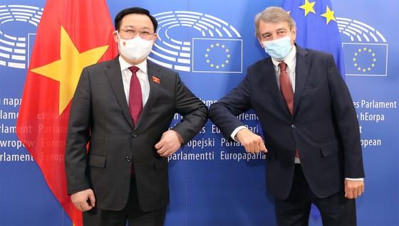 Chủ tịch Quốc hội Vương Đình Huệ đề nghị EC, EP ủng hộ để sớm gỡ thẻ vàng thủy sản đối với Việt Nam ảnh 1