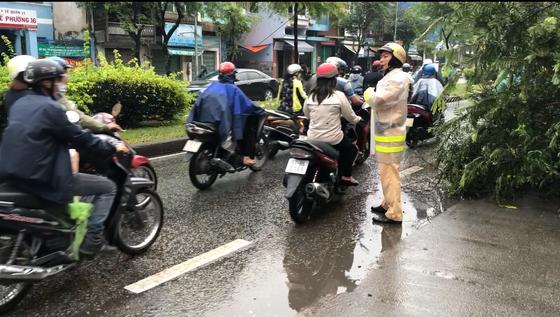 Lực lượng CSGT TPHCM để lại ấn tượng đẹp với người dân trong cơn bão số 9 ảnh 1