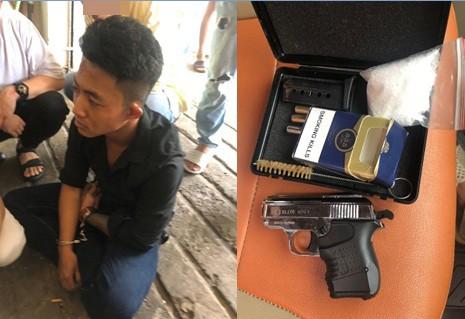 Kiểm tra khách sạn phát hiện 2 đối tượng tàng trữ ma tuý cùng súng ngắn ảnh 1