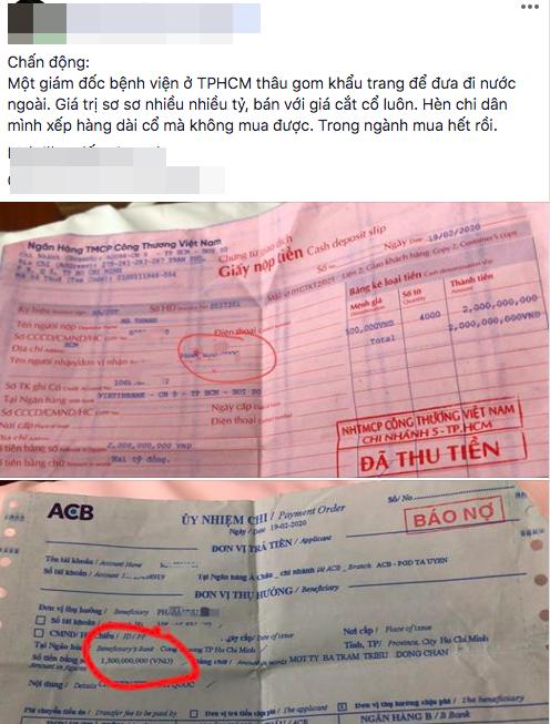 Không khởi tố vụ Giám đốc Bệnh viện quận Gò Vấp bị 'tố' gom khẩu trang bán kiếm lời ảnh 1