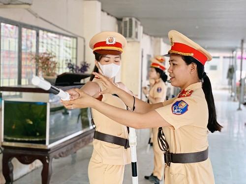 Chuẩn bị ra mắt đội hình nữ CSGT dẫn đoàn Công an TPHCM  ảnh 4