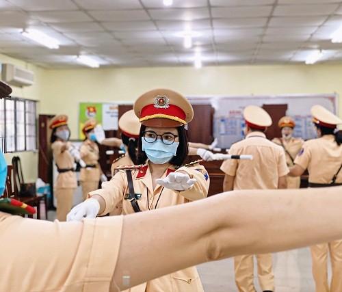 Chuẩn bị ra mắt đội hình nữ CSGT dẫn đoàn Công an TPHCM  ảnh 3
