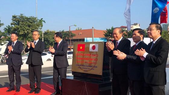 Hà Nội thông xe cầu cạn Mai Dịch - Nam Thăng Long  ảnh 1
