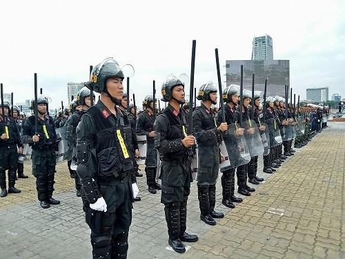 Cảnh sát cơ động trực 100% quân số trong thời gian diễn ra Hội nghị thượng đỉnh Mỹ - Triều ảnh 1