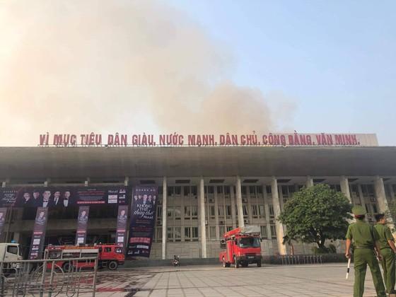 Cháy tại hội trường Cung văn hóa hữu nghị Việt Xô ảnh 1
