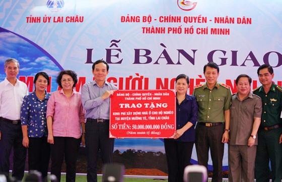 TPHCM hỗ trợ 50 tỷ đồng xây nhà tặng người nghèo tỉnh Lai Châu ảnh 1