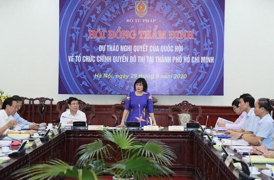 Hội đồng thẩm định Bộ Tư pháp thống nhất các nội dung dự thảo Nghị quyết về tổ chức chính quyền đô thị tại TPHCM ảnh 2