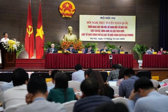 Bộ Nội vụ tổ chức Hội nghị trực tuyến toàn quốc triển khai luật pháp ảnh 1