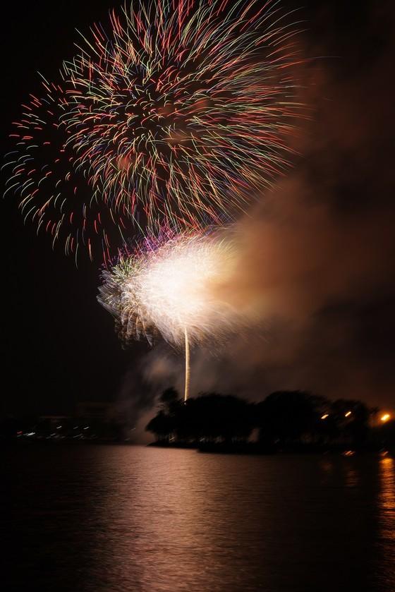Màn pháo hoa tầm cao chào năm mới duy nhất ở Hà Nội ảnh 12