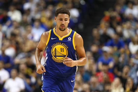 Klay Thompson trong trận Warriors thắng Spurs