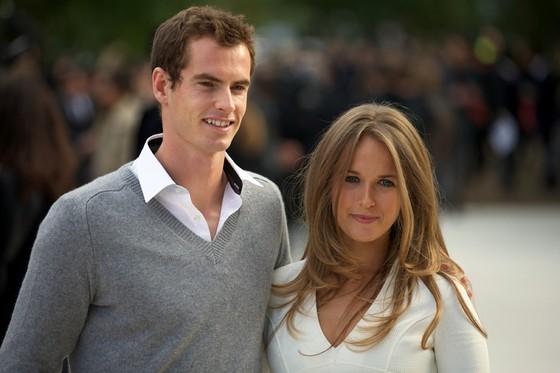 Andy Murray và vợ của mình, cô Kim Sears