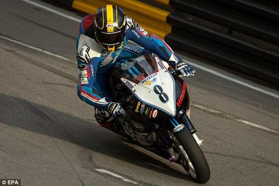Daniel Hegarty trên đường đua tại Macau