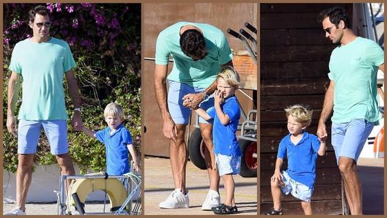 Roger Federer và 2 con trai của mình