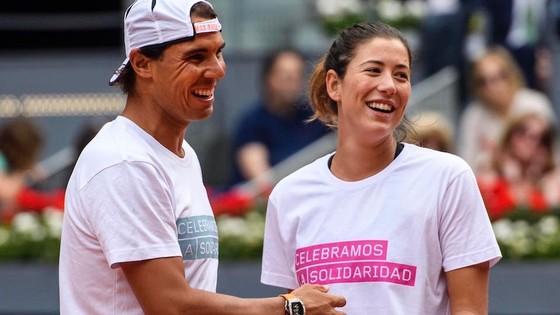 Rafael Nadal và Garbine Muguruza