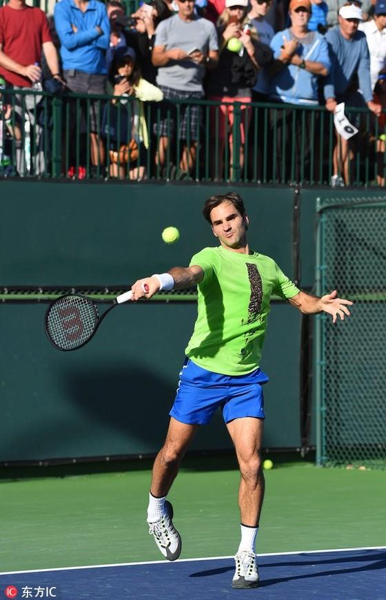 """Indian Wells 2018: Để bảo vệ ngôi """"Nhà vua"""", Federer phải vào đến bán kết ảnh 1"""