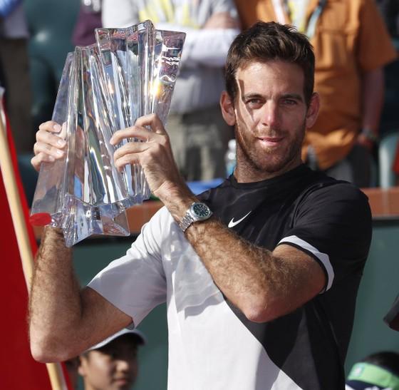 """Indian Wells 2018: """"Từ chối"""" danh hiệu thứ 98 của Federer, Del Potro lên ngôi ảnh 1"""