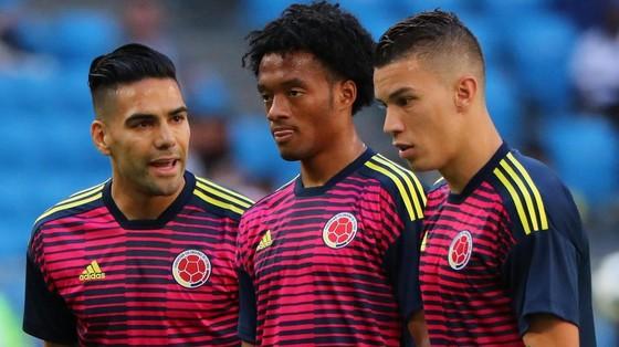 Falcao (trái) và Cuadrado (giữa) là những cầu thủ rất nguy hiểm của Colombia