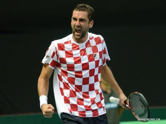 Marin Cilic trong màu áo tuyển Croatia ở Davis Cup