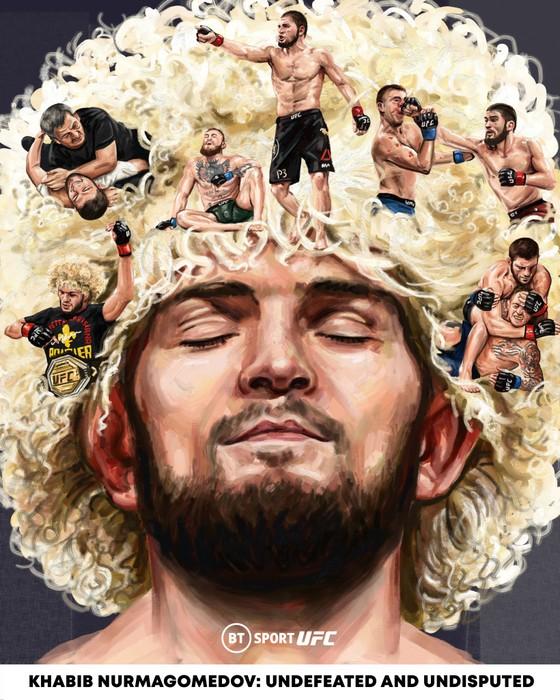 UFC 254: Bị gãy chân 3 tuần trước, Khabib vẫn thắng Gaethje bằng đòn siết cổ và… giải nghệ vì lời hứa với mẹ già ảnh 2