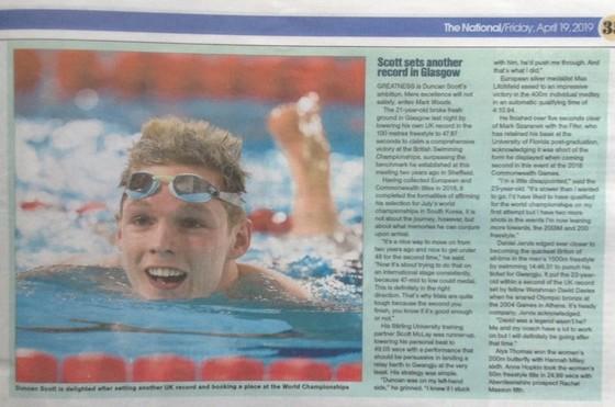 Bơi lội: Phá KLQG cự ly 100 mét tự do, Scott nhắm đến huy chương ở giải VĐTG ảnh 1
