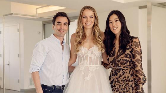 """""""Mỹ nhân"""" Đan Mạch Caroline Wozniacki: Diện váy cưới tuyệt đẹp để lên xe hoa ảnh 2"""