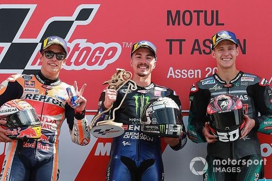 Đua xe mô tô: Đánh bại Marquez ngoạn mục, Vinales giành chiến thắng đầu tay ảnh 3