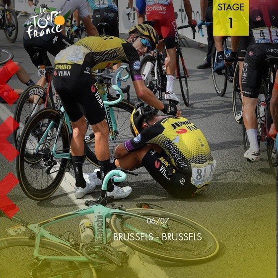 Tour de France: Teunissen đoạt chiến thắng ngay trước mặt Sagan ở chặng đua ngã xe hỗn loạn ảnh 1