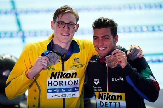 Giải bơi lội VĐTG 2019: Sun Yang vô địch 400m tự do, Horton từ chối đứng chung bục nhận huy chương ảnh 1