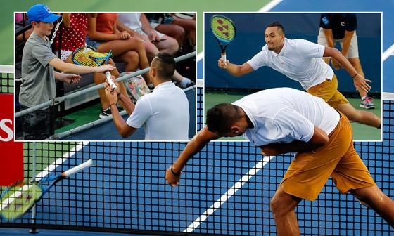"""Kyrgios có thể """"thổi bay"""" Federer - Nadal - Djokovic, nhưng trước mắt chỉ... thổi bay chai nước ảnh 3"""