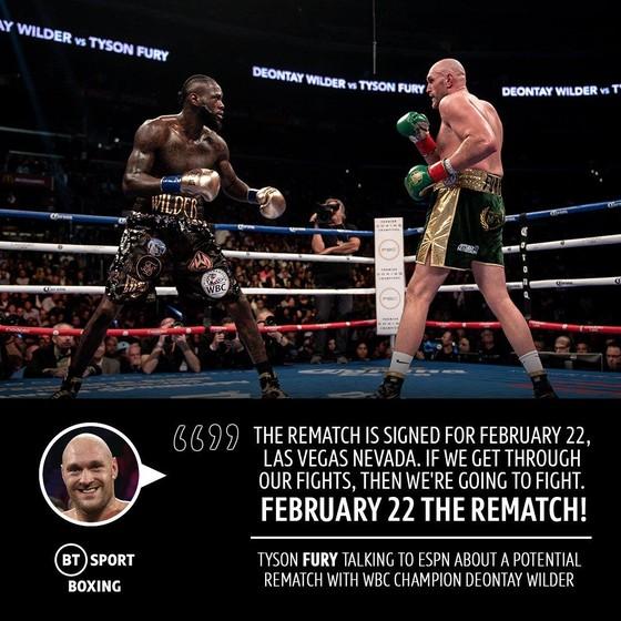 """Vừa lên lịch đấu với Wallin, Fury """"giận dữ"""" đã xác định tái chiến Wilder """"cuồng nộ"""" vào tháng 2-2020 ảnh 2"""
