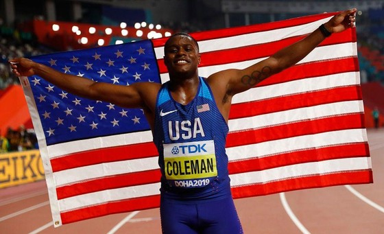 Giải điền kinh thế giới 2019: Coleman chạy nhanh thứ 6 lịch sử, giành HCV 100 mét ảnh 1