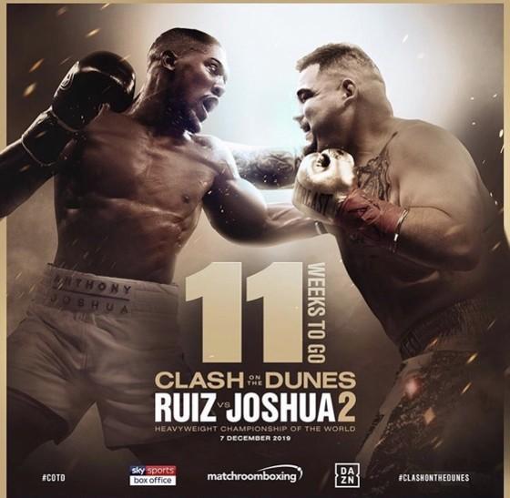Andy Ruiz sẽ đấu với Anthony Joshua vào ngày 7-12