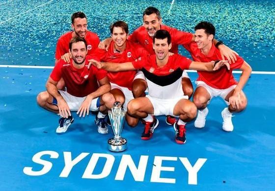 ATP Cup: Thắng 19 ván liên tiếp trên sân cứng trước tay vợt sở hữu 19 Grand Slam, Djokovic lên ngôi ảnh 2