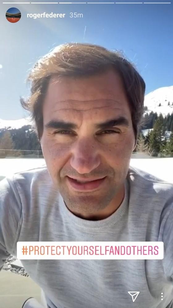 Roger Federer lần đầu tiên lên tiếng về dịch Covid-19: Hãy ở nhà, hạn chế tiếp xúc, rửa tay sạch sẽ ảnh 1