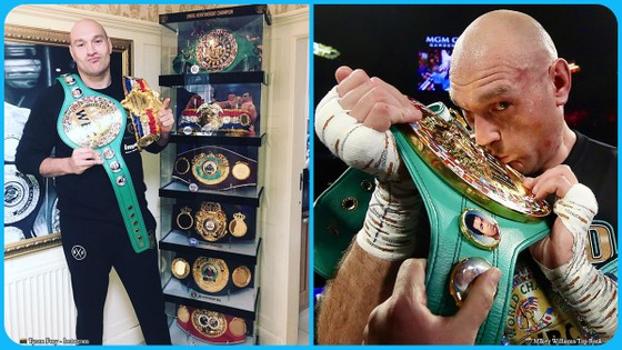 Tyson Fury và bộ sưu tập đai vô địch
