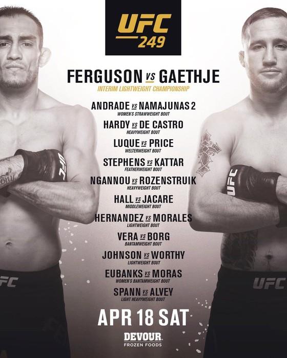 UFC 249: Gaethje thay thế Khabib, đại chiến Ferguson, nhưng đấu ở đâu vẫn… chưa rõ ảnh 1