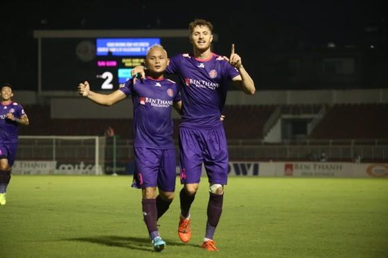 Quốc Phương và Geovane, bộ đôi xây chiến thắng cho Sài Gòn FC