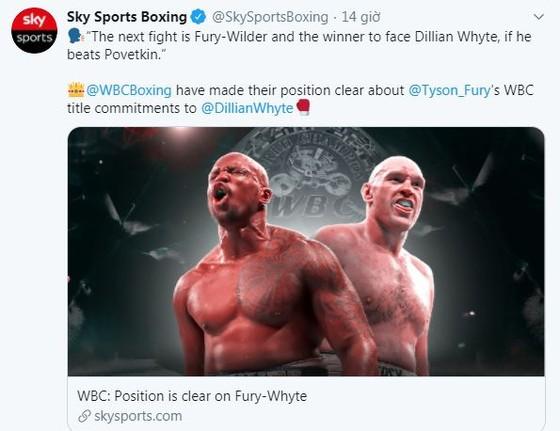 """""""Quái hiệp"""" Dillian Whyte vs """"Sư tử trắng nước Nga"""" Alexander Povetkin: Tranh thêm đai WBC Diamond ngoài WBC Interim ảnh 1"""