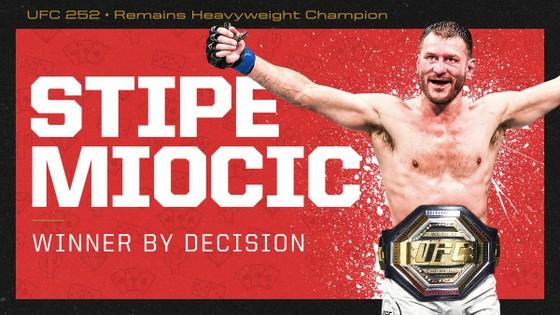 Miocic bảo vệ thành công đai vô địch hạng nặng của UFC