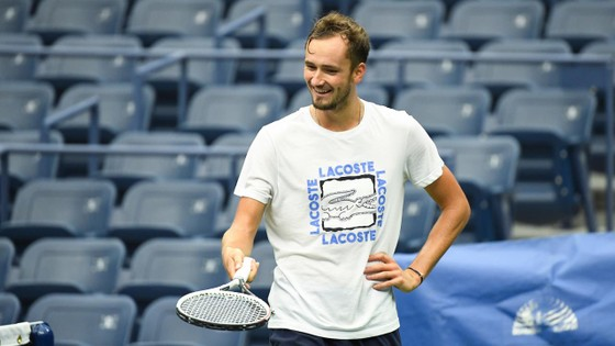 Medvedev trong 1 buổi tập ở US Open