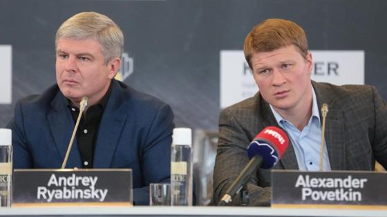 Ông bầu Ryabinskiy và Povetkin