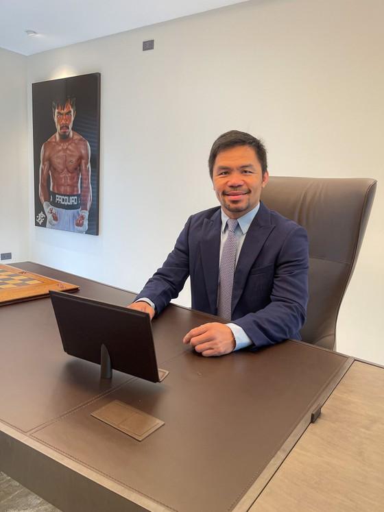 Văn phòng Thượng nghị sĩ của Pacquiao vẫn rất đậm chất quyền Anh