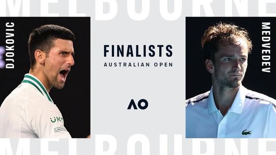Djokovic quyết đấu Medvedev ở chung kết đơn nam Australian Open 2021