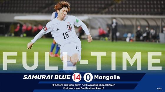 Tuyển Nhật Bản vừa hạ Mông Cổ 14-0