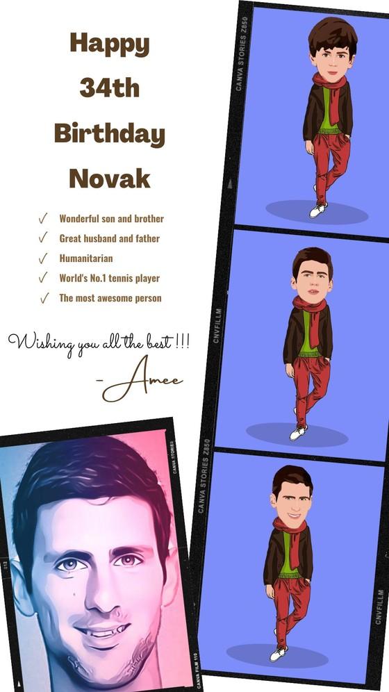 """Novak Djokovic: Được cả thế giới chúc mừng sinh nhật 34 tuổi, chuẩn bị tham gia giải """"Belgrade 2"""" ảnh 1"""