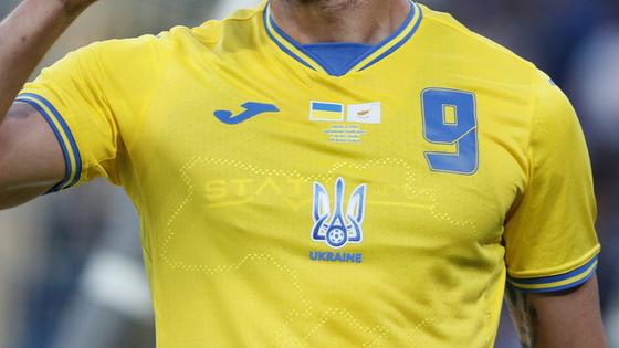 Mẫu áo đấu gây tranh cãi của tuyển Ukraine: Có hình bán đảo Crimea, được Tổng thống Zelensky khen hết lời ảnh 1