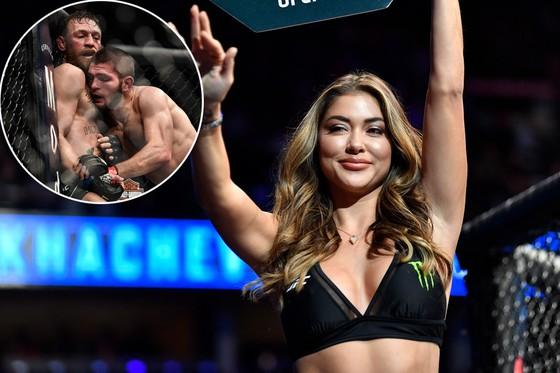 Cô Arianny Celeste - Ring Girl trong trận Khabib đánh bại McGregor